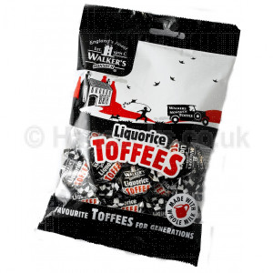 British Shop Walkers Liquorice Toffee Bag