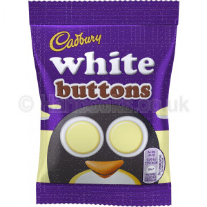 British Candy Cadbury White Buttons