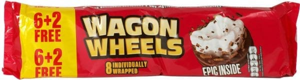 British Sweet Shop Wagon Wheels 8pk