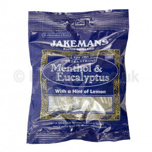 British Sweets And Treats Jakemans Menthol & Eucalyptus With A Hint Of Lemon