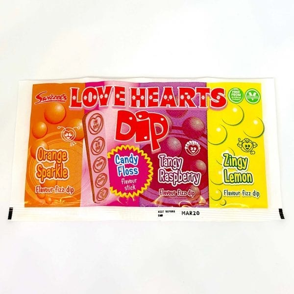 English Sweets Love Heart Dip