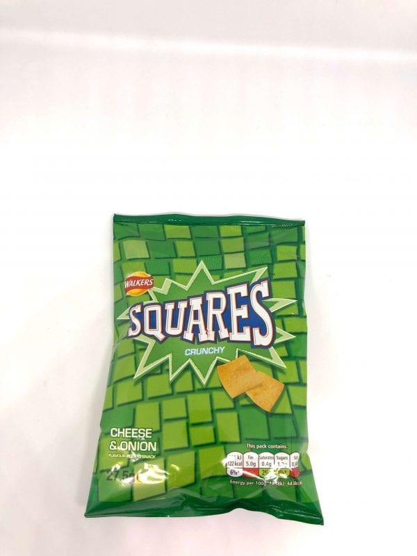 British Candy Walkers Squares Cheese & Onion