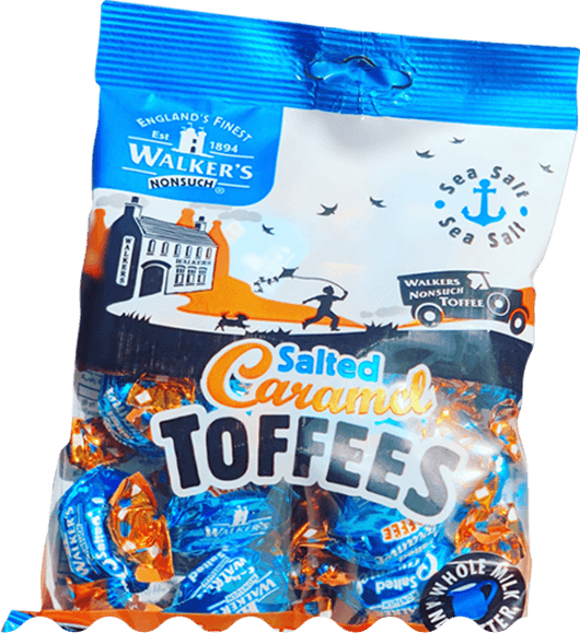 British Lolly Shop Perth Walker's Salted Caramel Toffees